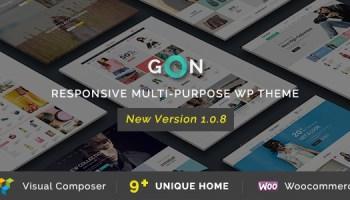 Gon v1 1 2 – Responsive Multi-Purpose WordPress Theme Free Download