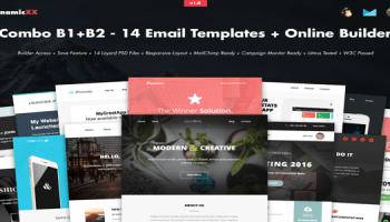 Skyline v20 responsive newsletter with template builder free combo b1b2 14 templates builder creativemarket free download maxwellsz