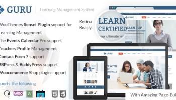 Guru v2 5 Learning Management WordPress Theme Free Download - Free