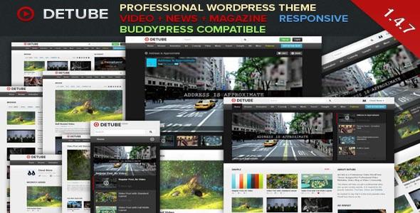 deTube v1.4.9 Professional Video WordPress Theme Free Download ...