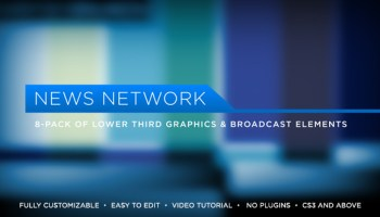 VIDEOHIVE BROADCAST NEWS LOWER THIRDS | MOGRT - PREMIERE PRO