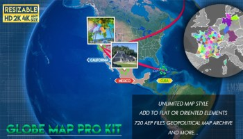 VIDEOHIVE TRAVEL ROUTES MAKER - Free After Effects Template