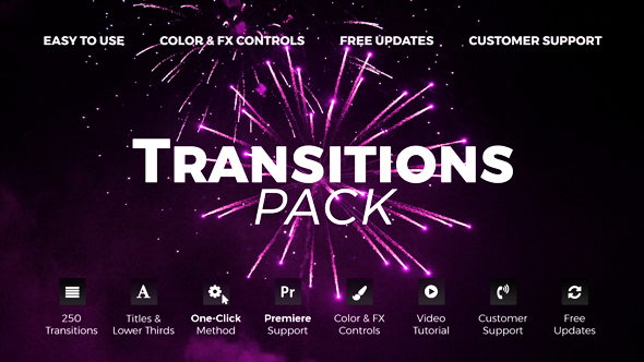 VIDEOHIVE TRANSITIONS V.4 20139771 - After Effects Template