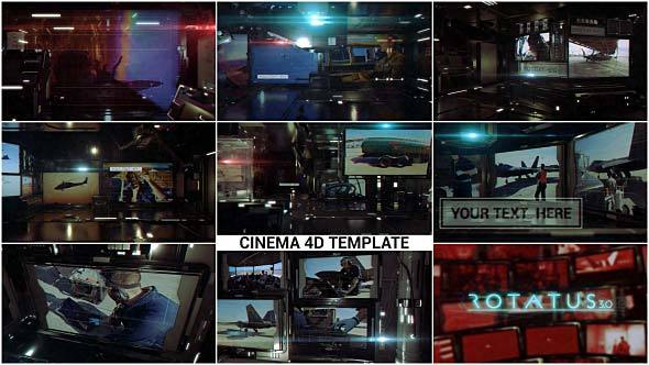 VIDEOHIVE ROTATUS 3 - CINEMA 4D TEMPLATE