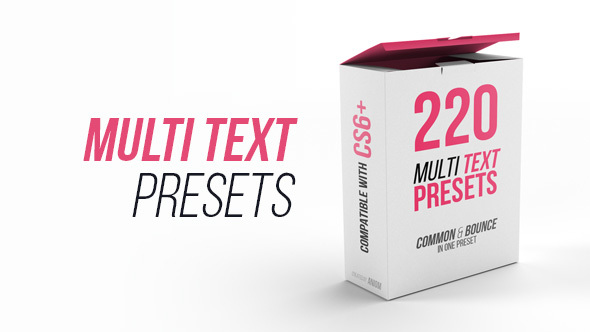 VIDEOHIVE MULTI TEXT PRESETS - ADD_ONS