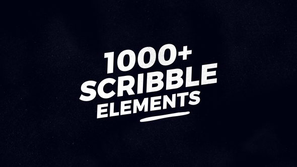 VIDEOHIVE 1000 SCRIBBLE ELEMENTS