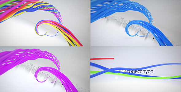 VIDEOHIVE COLORFUL RIBBON LOGO REVEAL