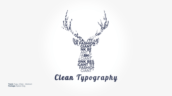 VIDEOHIVE CLEAN TYPOGRAPHY 20645969