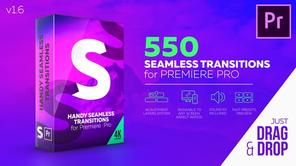VIDEOHIVE HANDY SEAMLESS TRANSITIONS – PREMIERE PRO