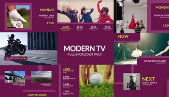 VIDEOHIVE TV BROADCAST PACK FREE DOWNLOAD - Free After