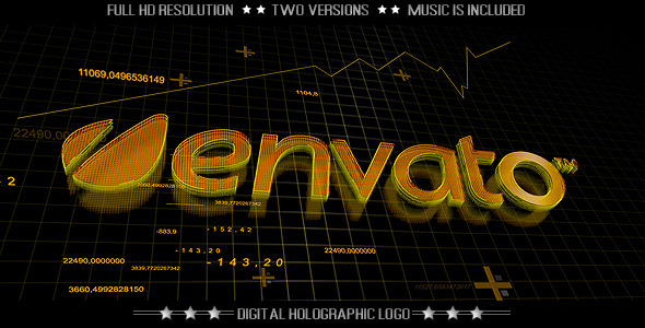 VIDEOHIVE DIGITAL TECHNOLOGY LOGO – FINANCE ECONOMY INTRO