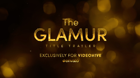 The Glamur Title Trailer Image - Free After Effects Template
