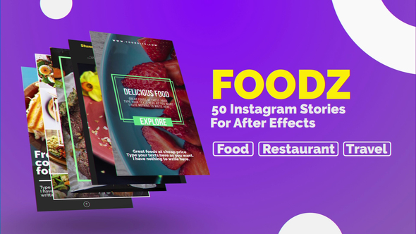 VIDEOHIVE FOODZ INSTAGRAM STORIES