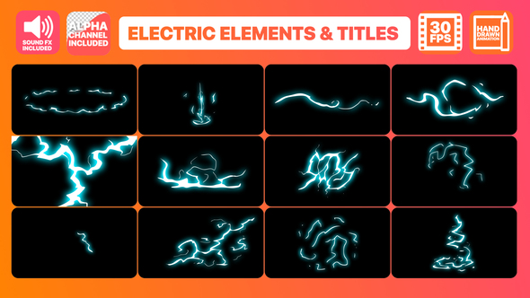 VIDEOHIVE FLASH FX ELECTRIC ELEMENTS AND TITLES