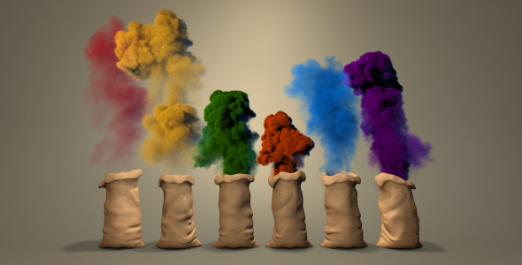 VIDEOHIVE COLOR DUST LOGO