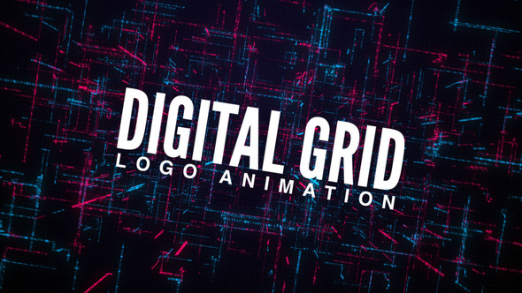 VIDEOHIVE DIGITAL GRID LOGO ANIMATION