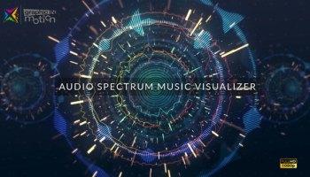 VIDEOHIVE CLEAN AUDIO SPECTRUM MUSIC VISUALIZER FREE