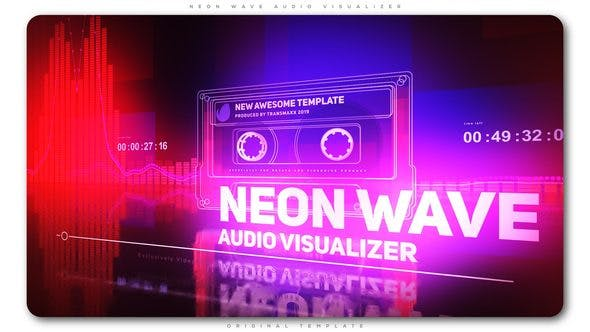 videohive neon wave audio visualizer free after effects. Black Bedroom Furniture Sets. Home Design Ideas