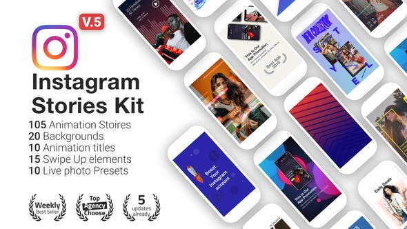 VIDEOHIVE INSTAGRAM STORIES KIT // INSTAGRAM STORY PACK V5