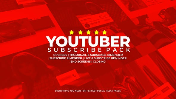 VIDEOHIVE YOUTUBER SUBSCRIBE PACK