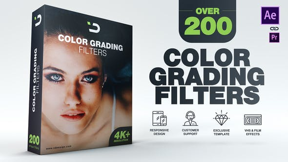 VIDEOHIVE 200 COLOR GRADING FILTERS
