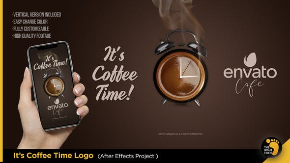 VIDEOHIVE IT'S COFFEE TIME - LOGO