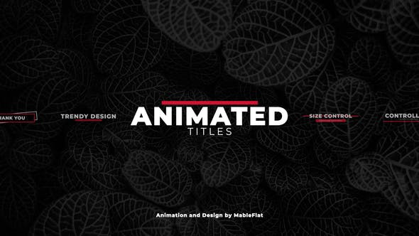 VIDEOHIVE ANIMATED TITLES PACK – PREMIERE PRO