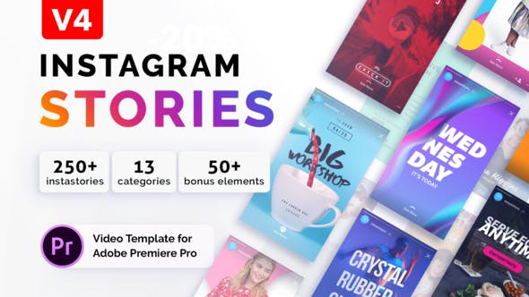 VIDEOHIVE INSTAGRAM STORIES V3 | FOR PREMIERE PRO - Free After