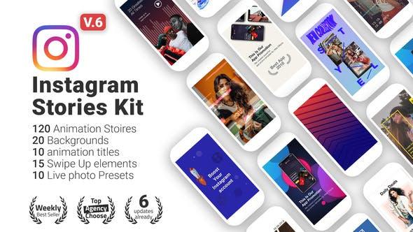 VIDEOHIVE INSTAGRAM STORIES KIT // INSTAGRAM STORY PACK V6