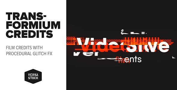 VIDEOHIVE TRANSFORMIUM | FILM CREDITS - Free After Effects Template
