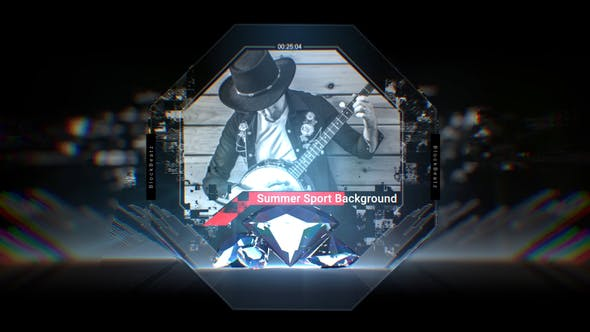 VIDEOHIVE CRYSTAL MUSIC COVER