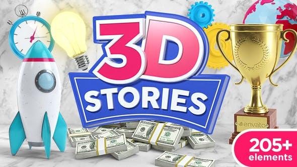 VIDEOHIVE 3D STORIES | ICONS EXPLAINER TOOLKIT V2