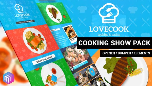 VIDEOHIVE LOVE COOK – COOKING SHOW PACK