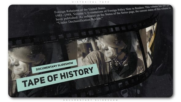 VIDEOHIVE HISTORICAL TAPE DOCUMENTARY SLIDESHOW