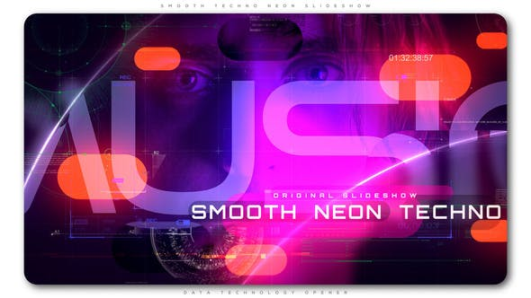 VIDEOHIVE SMOOTH TECHNO NEON SLIDESHOW