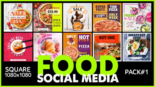 VIDEOHIVE SOCIAL MEDIA – FOOD