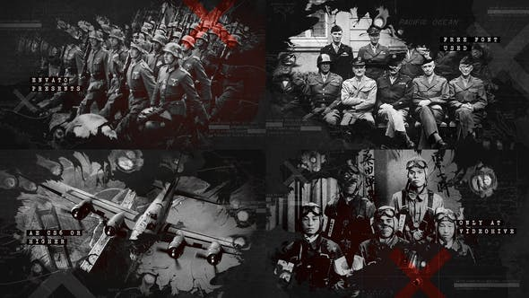 VIDEOHIVE INK BLEED HISTORY OPENER / WORLD WAR CREDITS / SIGNIFICANT EVENTS OF PAST / OLD RETRO CHRONICLE