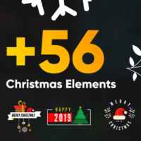 VIDEOHIVE CHRISTMAS ELEMENTS PACK
