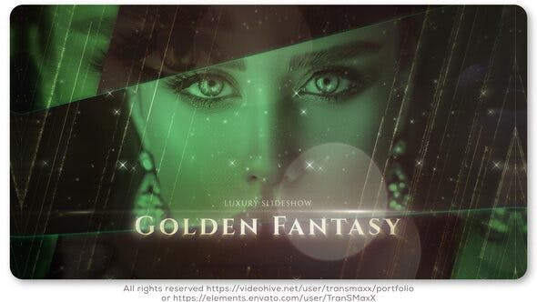 VIDEOHIVE GOLDEN FANTASY LUXURY SLIDESHOW