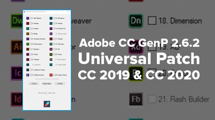 Adobe CC 2020 GenP 2.6.2