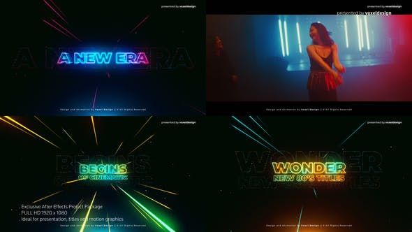 Wonder 80's Cinematic Title