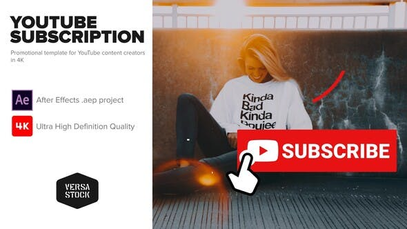 YouTube Subscribe Like getting Notified Promotion Kit