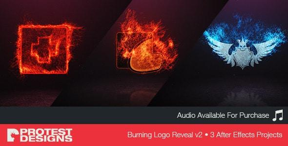 BURNING LOGO REVEAL V2