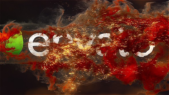 FIRE EXPLOSION LOGO REVEAL 3