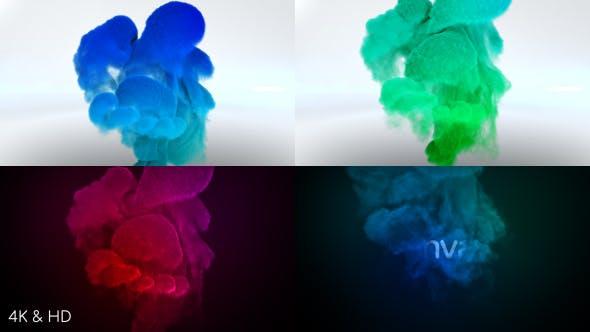 Color Smoke Logo Reveal