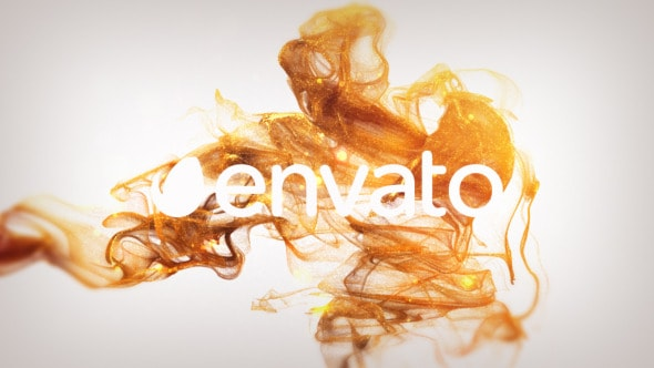 Elegant Gold Particles Logo Reveal