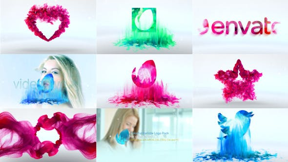 Colorful Particle Logo Pack