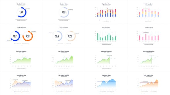 Infographics Charts Pack 2