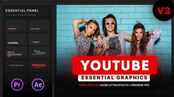 Youtube Essential Library Mogrt For Premiere V3.9.1