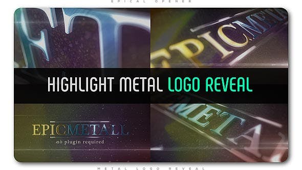 Highlight Metal Logo Reveal